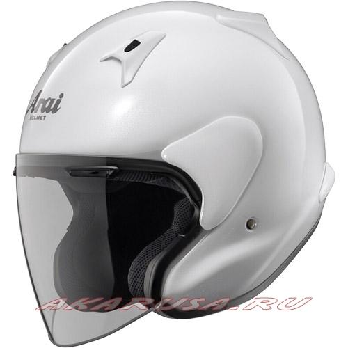Мотоциклетный шлем MZ-F зеркально-белый
