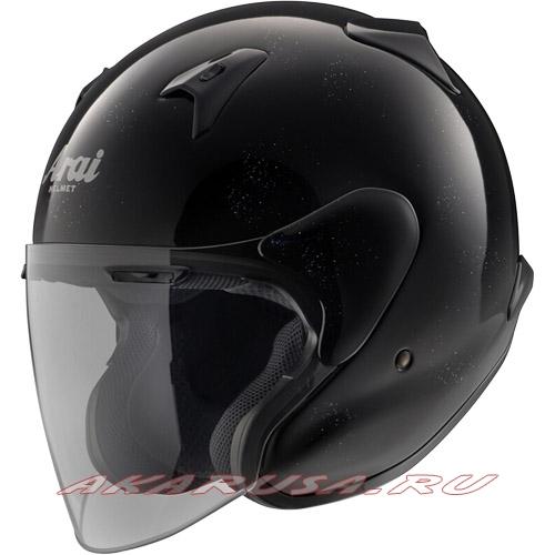 Мотоциклетный шлем MZ-F  зеркально-черный