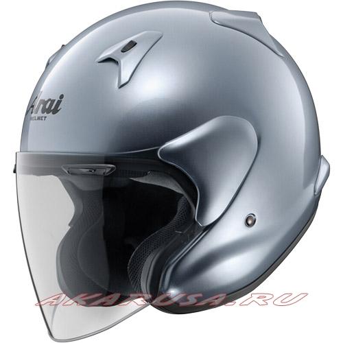 Мотоциклетный шлем MZ-F сапфировый серый