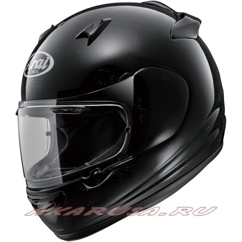 Мотоциклетный шлем QUANTUM-J зеркально-черный