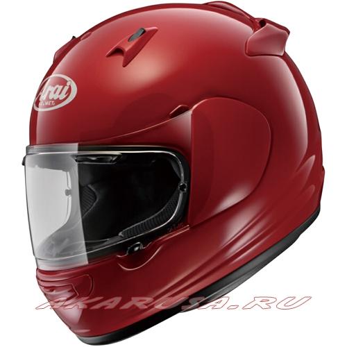 Мотоциклетный шлем QUANTUM-J красный